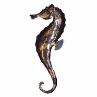Polished Metal Seahorse - Large