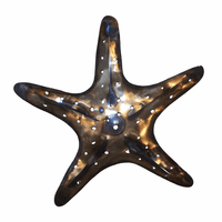 Polished Metal Starfish Wall Art - Large