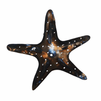 Polished Metal Starfish Wall Art - Small