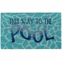Pool Directions Coir Mat Collection