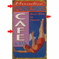 Poolside Caf� Personalized Signs