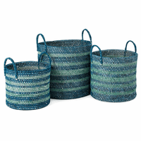 Port Orford Handwoven Baskets - Set of 3