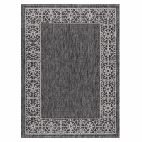 Portico Black Indoor/Outdoor Rug Collection