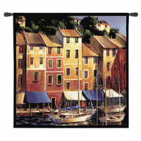 Portofino Waterfront Wall Tapestry