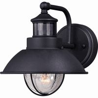 Portside Outdoor Motion Sensor Wall Sconce - Black - 8 Inch