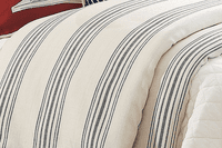 Prescott Navy Stripe Duvet - Super King