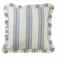 Prescott Navy Stripe Euro Sham - OUT OF STOCK - ETA - 12/22/2020