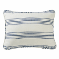 Prescott Navy Stripe Queen Sham