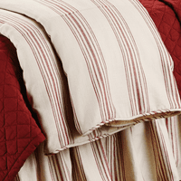 Prescott Red Stripe Duvet - Super Queen