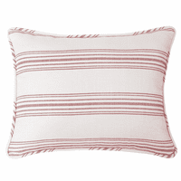 Prescott Red Stripe Queen Sham