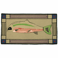 Primitive Fish Accent Rug