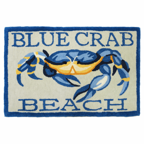 Prussian Crab Accent Rug