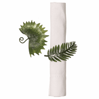 Puerto Rico Palm Napkin Rings - Set of 6
