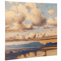 Puffy Clouds Canvas Wall Art