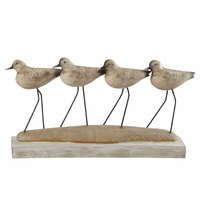 Quadruple Shorebirds Statue