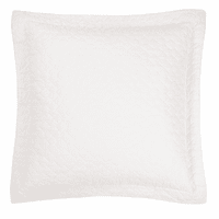 Quilted White Euro Sham