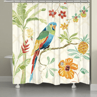 Rain Forest Parrot Shower Curtain