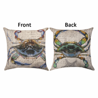 Rainbow Crab Reversible Pillow