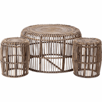 Rattan Accent Tables - Set of 3
