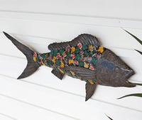 Recycled Bottle Cap Fish Wall Art - OVERSTOCK