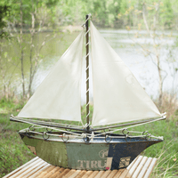 Recycled Iron Sailboat