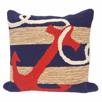 Red Anchor Indoor/Outdoor Pillow