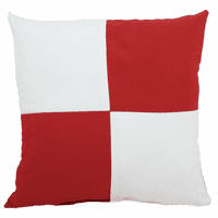 Red and White Checkered Flag Indoor/Outdoor Pillow