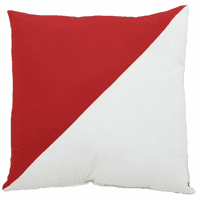 Red and White Diagonal Flag Indoor/Outdoor Pillow - 17 x 17