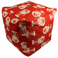 Red and White Lobsters Indoor/Outdoor Square Pouf
