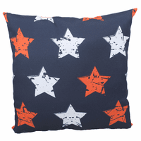 Red and White Stars Indoor/Outdoor Pillow