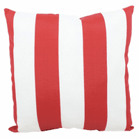 Red and White Stripes Indoor/Outdoor Pillow