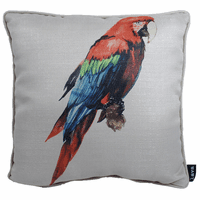 Red, Blue and Green Parrot Indoor/Outdoor Pillow