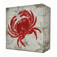 Red Crab Aluminum Wall Art