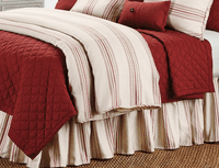 Red Diamond Pattern Linen Quilt - Full/Queen