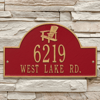 Red & Gold Personalized Adirondack Arch Plaque