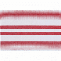 Red Harbor Stripe Table Linens