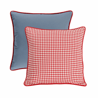 Red Houndstooth Euro Sham