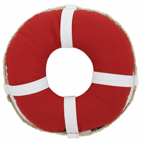 Red Life Ring Indoor/Outdoor Pillow