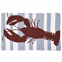 Red Lobster Hooked Rug