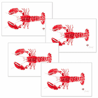 Red Lobster Placemats - Set of 4
