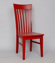 Red Mission Chair - OUT OF STOCK