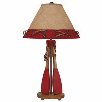 Red Paddles and Oars Table Lamp