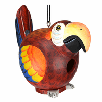 Red Parrot Birdhouse