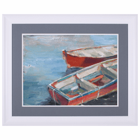 Red Rowboats I Framed Art