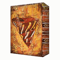Red Shell Aluminum Wall Art
