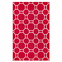 Red Tiles Rug Collection