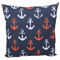 Red & White Anchors on Blue Indoor/Outdoor Pillow