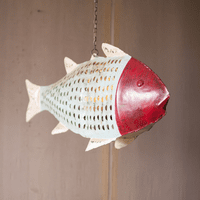 Redhead Hanging Fish Candle Holder