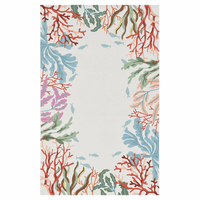 Reef Dreams Ivory Rug Collection