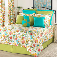 Reef Jubilee Comforter Set with 18 Inch Drop Bedskirt - King